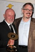 Jonathan Banks and Vince Gilligan at the 39th Annual Saturn Awards Press Room, The Castaway, Burbank