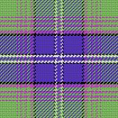 stock photo of tartan plaid  - vector seamless pattern Scottish tartan blue green and purple - JPG