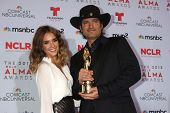 Jessica Alba and Robert Rodriguez at the 2013 NCLR ALMA Awards Press Room, Pasadena Civic Auditorium