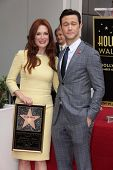 Julianne Moore and Joseph Gordon-Levitt at Julianne Moore's Star on the Hollywood Walk of Fame Cerem