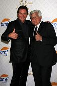 Jeff Trachta and Jay Leno at the 10th Alfred Mann Foundation Gala, Robinson-May Lot, Beverly Hills,