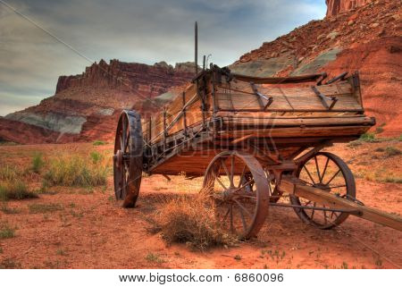 Old Mormon Wagon Capitol Reef Utah