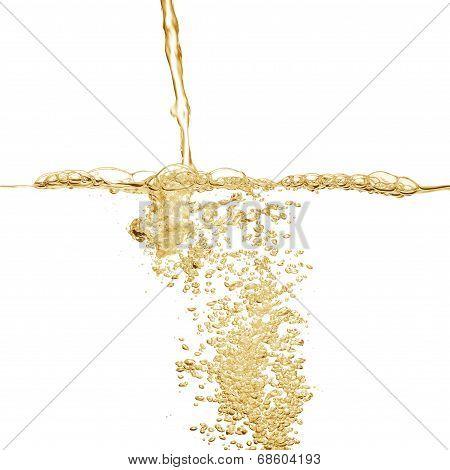 Golden Fluid Jet