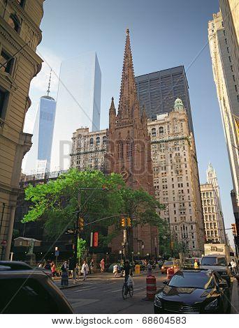 Trinity Church In Manhattan, New York City.