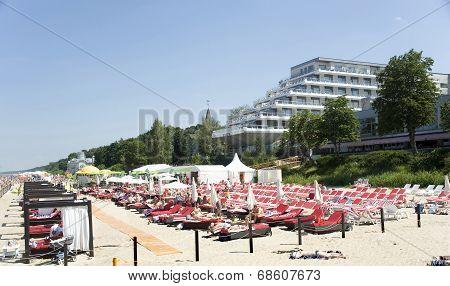 Latvia, Jurmala. Recreation Area At Hotel.