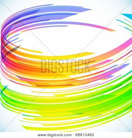 Abstract rainbow cylinder vector background