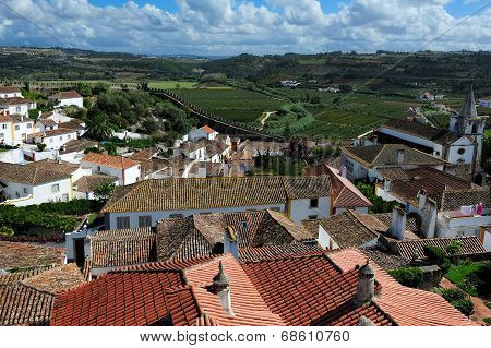 Old Medieval Town Obidos, Portugal