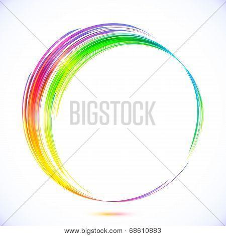 Rainbow vector abstract circle frame