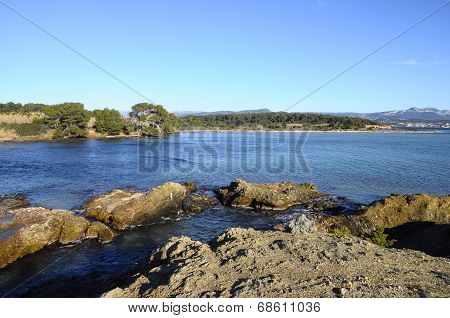 Sea Landscape Near Bandol, France