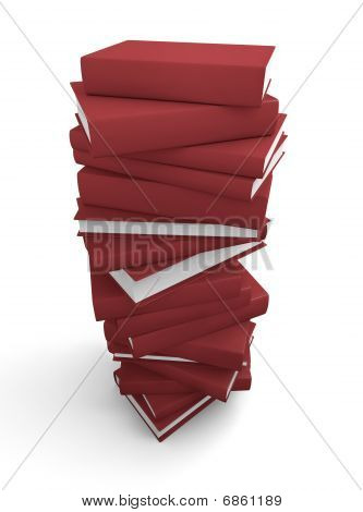 Stack of red books