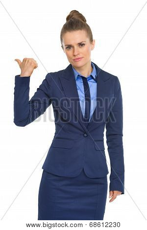 Business Woman Showing Get Out Gesture