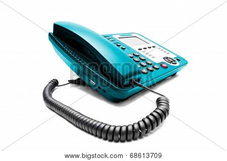 Blue Ip Office Phone Isolated