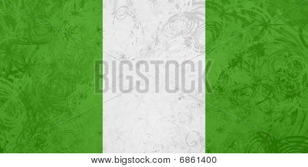 Flag Of Nigeria Grunge Texture