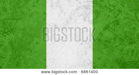 Flag Of Nigeria Grunge Texture