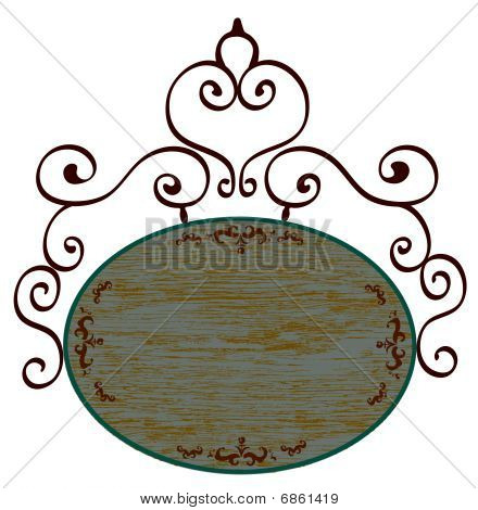 flower pattern and wood banner