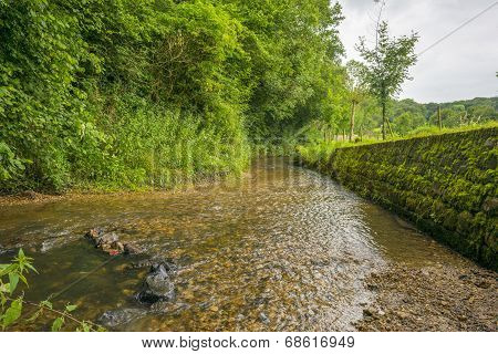 Stream meandering through the countryside