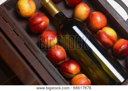 White Wine And Peaches