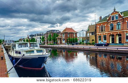 The Channel In  The Assen Town . Holland.