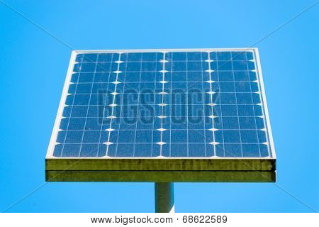 Solar Panel On A Background Of Clear Sky