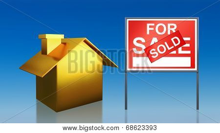 Gold House Sky For Sale Sold