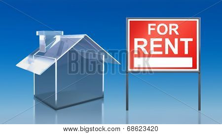 Investment Blue Glass House For Rent