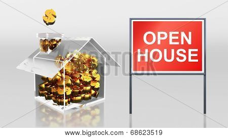 Investment Saving Dollar Open House
