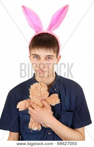 Teenager With Bunny Ears
