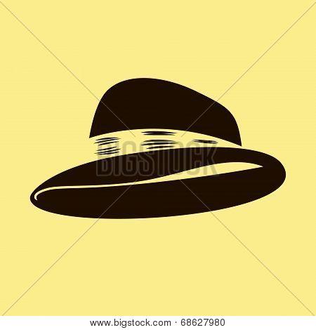 bowler hat vector illustration