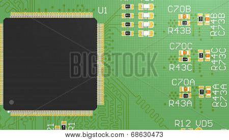 Pcb Green With Elements
