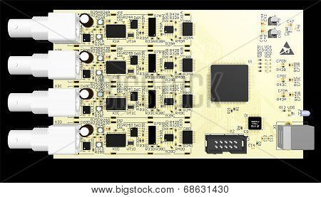 Device Pcb Yellow With Elements