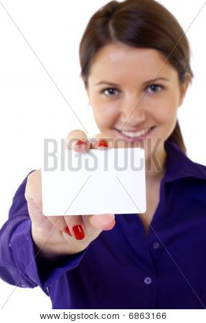 Professional's White Business Card