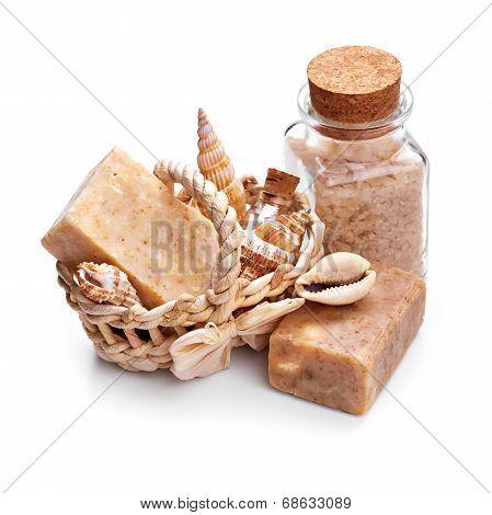 Soap With Sea Salt And Seashells