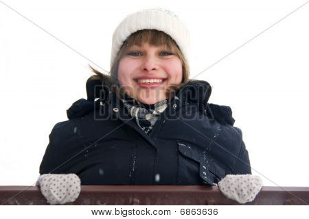 Smiling Girl On The Balcony
