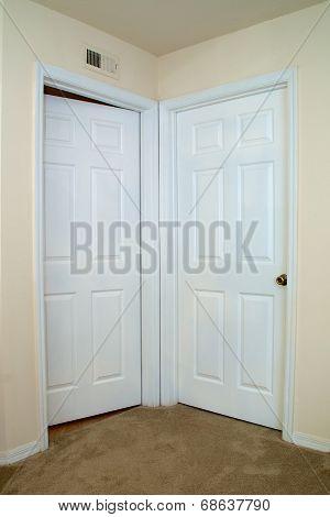 Two Interior Doors One Ajar