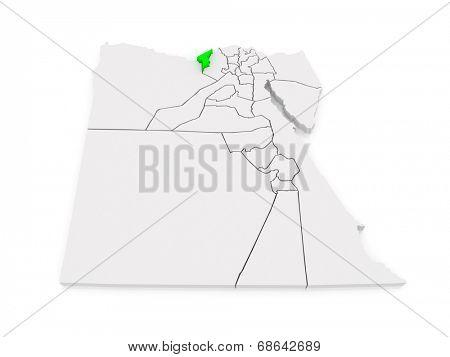 Map of Alexandria. Egypt. 3d