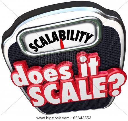 Scalability 3d word Does It Scale question asking if your business model can increase