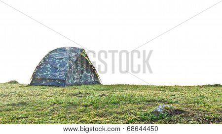 Camping Tent In Grass