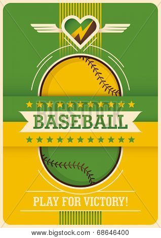 Conceptual baseball poster design. Vector illustration.