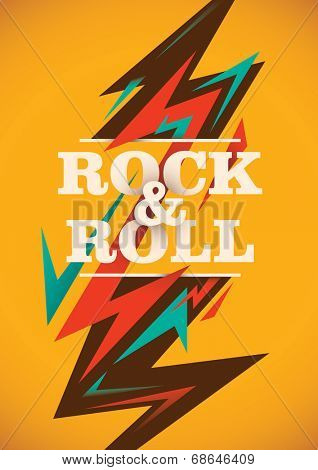Abstract rock and roll poster. Vector illustration.