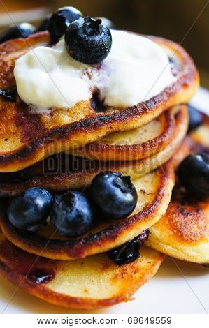 Thick Pancakes With Bilberries