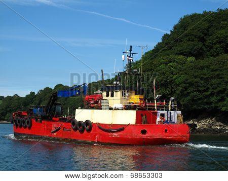 Fishing Boat Upon River