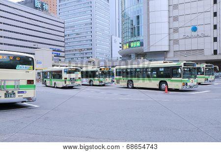 JR Osaka Station Bus Terminal Japan