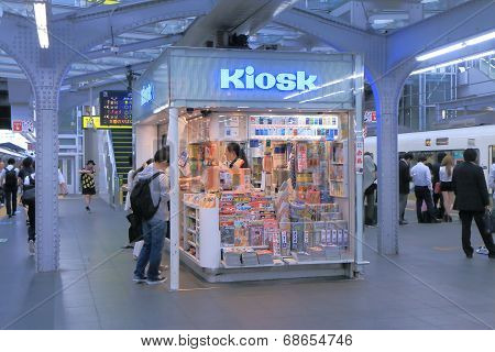 Kiosk at JR Osaka Train station Japan