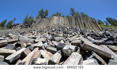 Basalt Formations At Devil's Postpile National Monument