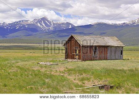Barn on farm in rural landscape