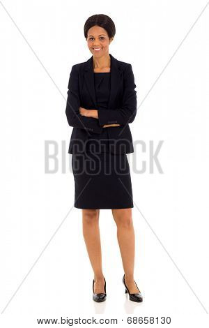 beautiful mid age african businesswoman with arms crossed