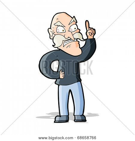 cartoon old man laying down rules