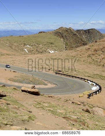 Summit Road on Pikes Peak, Colorado 14er