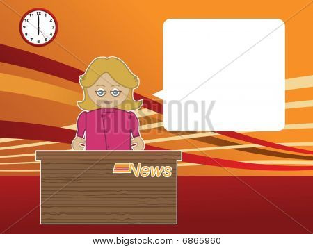 female news reader
