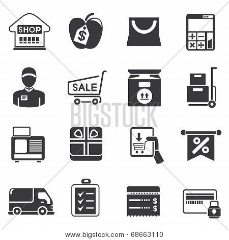 shopping and supermarket icons